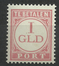 Nederlands Indië Port 38 1 Gld Cijfer en waarde in rood 1913-1924 Postfris (1)