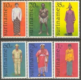 Suriname Republiek 113/118 Klederdrachten 1978 Postfris