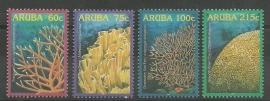 Aruba 348/351 Koraal Postfris