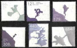 Curaçao Status Aparte 335/340 Baaien in Curaçao (lokale uitgave) 2016 Postfris