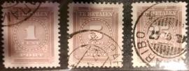 Suriname P 33/35 Afgestempeld