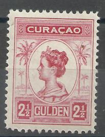 Curacao  70B 2½ Gld (11½×11½) Koningin Wilhelmina Postfris (1)