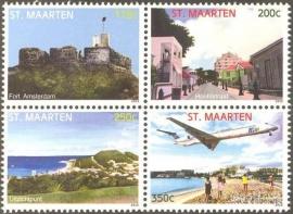 Sint Maarten 108/111 Landschappen 2012 Postfris