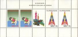 Suriname Republiek 1293/1294V Kinderzegels 2004 Postfris (Compleet Vel)