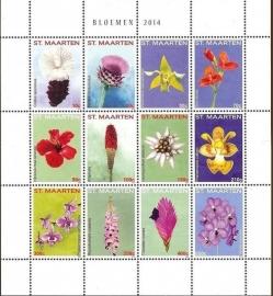 Sint Maarten 192/203 Bloemen 2014 Postfris