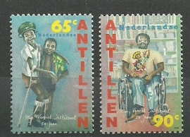 Nederlandse Antillen 1083/1084 50 jaar Mgr. Verriet Instituut Postfris