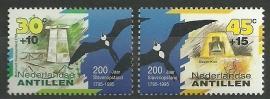 Nederlandse Antillen 1095/1096 200 jaar Slavenopstand Curaçao Postfris