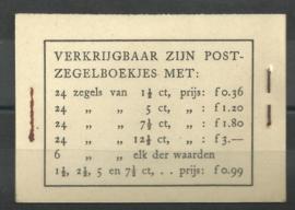 PZ 38-N 4 × 6 (Nvph 172/379/380/381) Roomkleurige Kaft