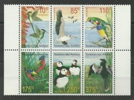 Nederlandse Antillen 1363/1368 Vogels 2001 Postfris