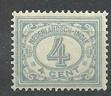 Nederlands Indië 107 4ct blauwgrijs Cijferzegel 1912/1930 Postfris