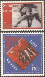 Suriname Republiek 1130/1131 Kerst en Kind zegels 2001 Postfris