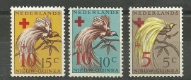 Nieuw Guinea 38/40 Rode Kruiszegels Postfris