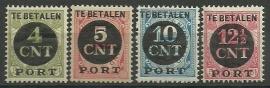 Port  65/68 Overdruk 1899-1913 + 1899-1921 Ongebruikt
