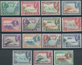 Luchtpost 26/40 Koningin Wilhelmina Diverse Voorstellingen Postfris (3)