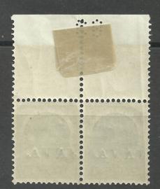 Nederlands Indië  54P als 75P 22½ ct Java Postfris in paar  + Velrand met ponsnummer