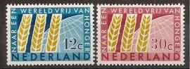 Nvph  784/785 Int. Anti Honger Jaar Postfris