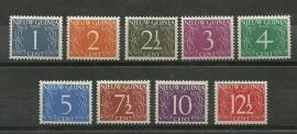 Nieuw Guinea 1/9 Cijferzegels Postfris