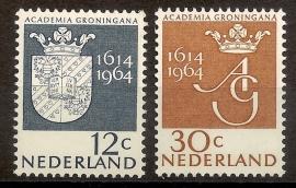 Nvph  816/817 350 Jaar Universiteit Groningen Postfris