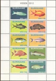 Suriname Republiek  1901/1910 Vissen 2012 Postfris
