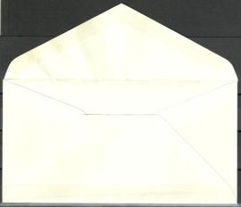 FDC E28 Onbeschreven met open klep met plaatfout 687PM3 en Befund