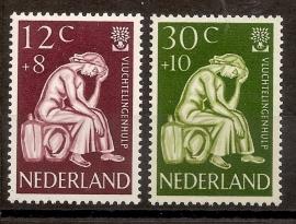 Nvph  736/737 Vluchtelingenzegels Postfris