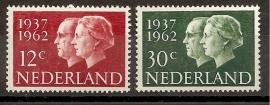 Nvph  764/765 Zilveren Huwelijk Juliana en Bernhard Postfris