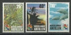 Nederlandse Antillen 1338/1340 Postzegeltentoonstelling Postfris