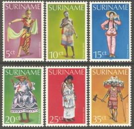 Suriname Republiek 161/166 Surinaamse Danskostuums 1979 Postfris