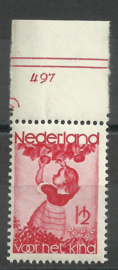 Nvph 279 1½ ct Kinderzegels 1935 Postfris met Etsingnummer