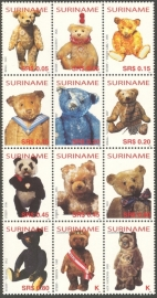 Suriname Republiek 1239/1250 Teddyberen 2004 Postfris