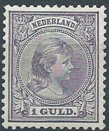 Nvph  44 1 Gld Prinses Wilhelmina (Hangend Haar) Ongebruikt (1)