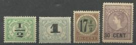 Nederlands Indië 138/141 Nooduitgifte Postfris
