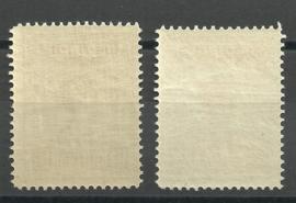 Nederlands Indië 129/134 Koningin Wilhelmina Postfris (1) + Certificaat