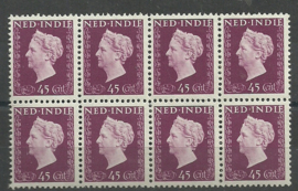 Nederlands Indië 341 PM3 in blok Postfris