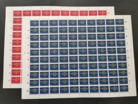 Nvph 745/746 Europazegels 1960 in vellen van 100 Postfris