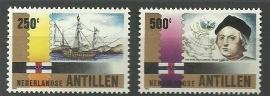 Nederlandse Antillen 1004/1005 Columbus Postfris