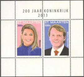 Sint Maarten 174 Blok 200 Jaar Koninkrijk 2013 Postfris