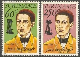 Suriname Republiek  743/744 140e Geboortedag J.E.Matzeliger 1992 Postfris