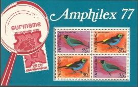 Suriname Republiek  73 Blok Amphilex 1977 Postfris