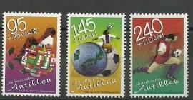Nederlandse Antillen 1390/1392 WK Voetbal Postfris