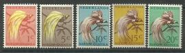 Nieuw Guinea 25/29 Paradijsvogels Postfris