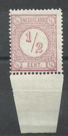 Nvph  30BI (13½×13¼) ½ ct Cijferzegel Type I 1894 Postfris (1)