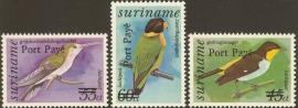 Suriname Republiek  798/800 Vogels Port Payé 1994 Postfris