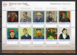 """Persoonlijk Postzegelvel  """"Vincent van Gogh  Portretten"""" Postfris"""