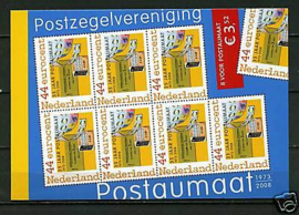 Postzegelboekje Postaumaat 8 voor Jezelf Postfris (blauw)