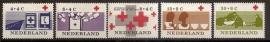Nvph  795/799 100 Jaar Rode Kruis Postfris