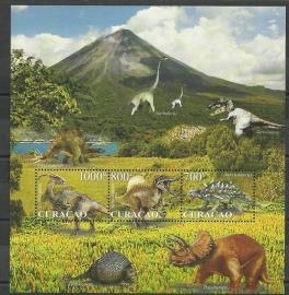 Curaçao Status Aparte  38 Blok Prehistorische Dieren Postfris