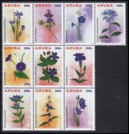 Aruba 793/802 Bloemen 2015 Postfris