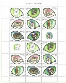Aruba V623/630 Katten 2012 Postfris (Compleet Vel)