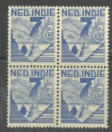 Nederlands Indië 321 PM1 in blok Postfris
